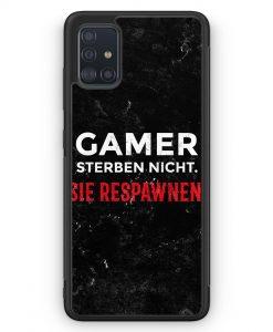 Samsung Galaxy A51 Silikon Hülle - Gamer Sterben Nicht - Sie Respawnen