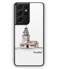 Samsung Galaxy S21 Ultra Silikon Hülle - Kiz Kulesi Istanbul Wasserfarben
