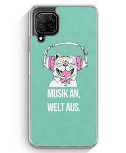 Huawei P40 lite Hülle - Mops - Musik An - Welt Aus
