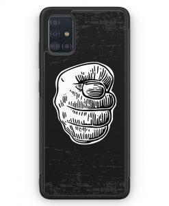 Samsung Galaxy A51 Silikon Hülle - Nah Frecher Finger
