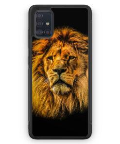 Samsung Galaxy A51 Silikon Hülle - Löwe Lion Strahlend