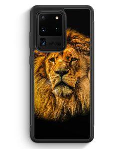 Samsung Galaxy S20 Ultra Silikon Hülle - Löwe Lion Strahlend