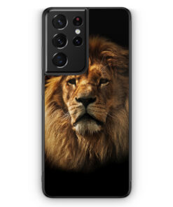 Samsung Galaxy S21 Ultra Silikon Hülle - Löwe Lion Foto