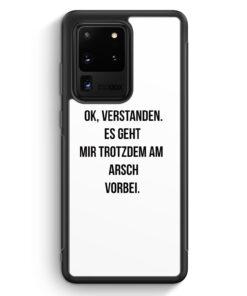 Samsung Galaxy S20 Ultra Silikon Hülle - Ok Verstanden - Es Geht Mir Trotzdem Am Arsch Vorbei WT