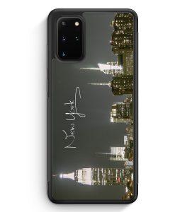 Samsung Galaxy S20+ Plus Silikon Hülle - New York City Schriftzug Skyline