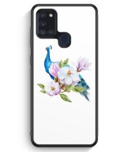 Samsung Galaxy A21s Silikon Hülle - Peacock Pfau WT