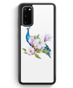 Samsung Galaxy S20 FE Silikon Hülle - Peacock Pfau WT