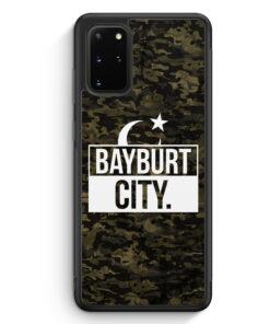 Samsung Galaxy S20+ Plus Silikon Hülle - Bayburt City Camouflage