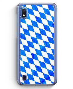Samsung Galaxy A10 Hülle - Bayern Flagge Grunge