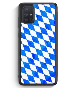 Samsung Galaxy A71 Silikon Hülle - Bayern Flagge Grunge