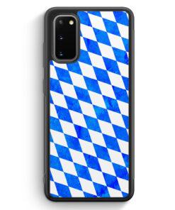 Samsung Galaxy S20 Silikon Hülle - Bayern Flagge Grunge