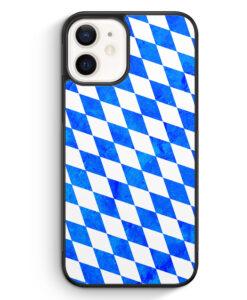 iPhone 12 Silikon Hülle - Bayern Flagge Grunge