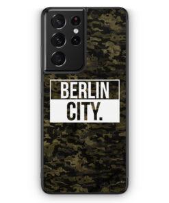 Samsung Galaxy S21 Ultra Silikon Hülle - Berlin City Camouflage