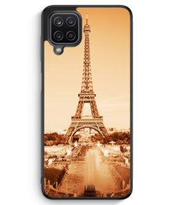 Samsung Galaxy A12 Silikon Hülle - Eiffelturm Foto