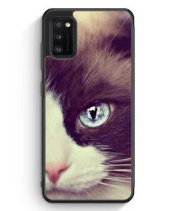 Samsung Galaxy A41 Silikon Hülle - Süße Katze Cat