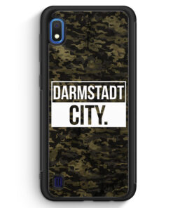 Samsung Galaxy A10 Silikon Hülle - Darmstadt City Camouflage