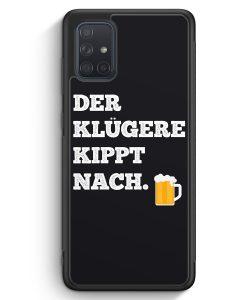 Samsung Galaxy A71 Silikon Hülle - Der Klügere Kippt Nach. Bier