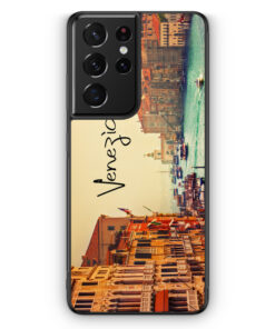 Samsung Galaxy S21 Ultra Silikon Hülle - Venezia Venedig Schriftzug Foto