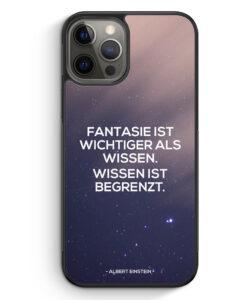 iPhone 12 Pro Silikon Hülle - Fantasie ist Wichtiger als Wissen Albert Einstein Zitat