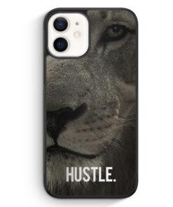 iPhone 12 mini Silikon Hülle - Hustle. Löwe Motivation