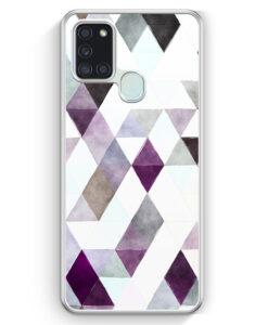 Samsung Galaxy A21s Hülle - Aztek Muster Schwarze Dreiecke