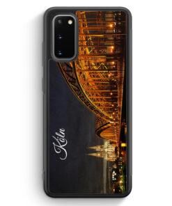 Samsung Galaxy S20 Silikon Hülle - Köln Schriftzug Skyline Foto