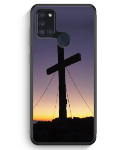 Samsung Galaxy A21s Silikon Hülle - Kreuz Foto
