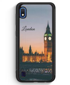 Samsung Galaxy A10 Silikon Hülle - London Big Ben Schriftzug