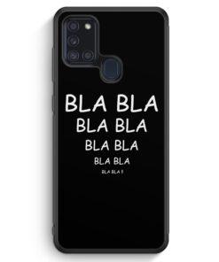 Samsung Galaxy A21s Silikon Hülle - Bla Bla Bla BK