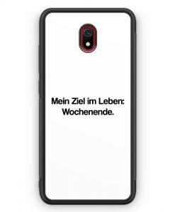 Xiaomi Redmi 8A Silikon Hülle - Mein Ziel im Leben: Wochenende