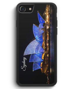 iPhone SE 2020 Silikon Hülle - Sydney Schriftzug Opera