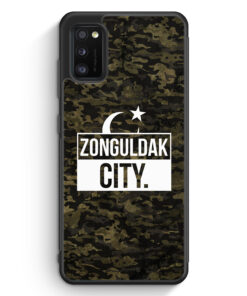 Samsung Galaxy A41 Silikon Hülle - Zonguldak City Camouflage