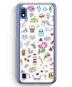 Samsung Galaxy A10 Hülle - Sticker Bomb Em