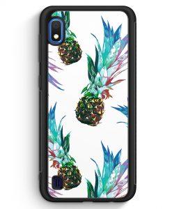 Samsung Galaxy A10 Silikon Hülle - Ananas Tropical Blau Grün