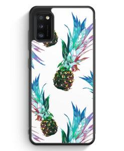 Samsung Galaxy A41 Silikon Hülle - Ananas Tropical Blau Grün