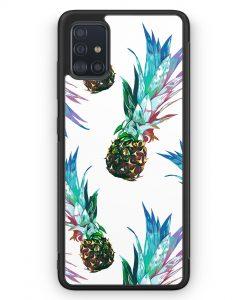 Samsung Galaxy A51 Silikon Hülle - Ananas Tropical Blau Grün