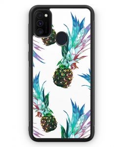 Samsung Galaxy M30s Silikon Hülle - Ananas Tropical Blau Grün