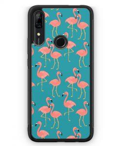 Huawei P Smart Z Silikon Hülle - Flamingo Tropical Muster Blau