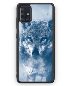 Samsung Galaxy A51 Silikon Hülle - Wolf Foto