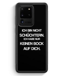 Samsung Galaxy S20 Ultra Silikon Hülle - Ich bin nicht schüchtern BK