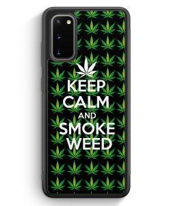 Samsung Galaxy S20 Silikon Hülle - Keep Calm And Smoke Weed