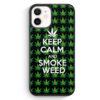 iPhone 12 mini Silikon Hülle - Keep Calm And Smoke Weed