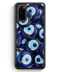 Samsung Galaxy S20 Silikon Hülle - Nazar Muster Foto