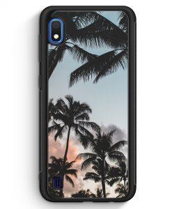 Samsung Galaxy A10 Silikon Hülle - Palmen Landschaft Tropical