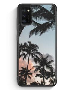 Samsung Galaxy A41 Silikon Hülle - Palmen Landschaft Tropical
