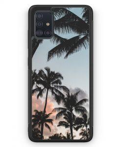 Samsung Galaxy A51 Silikon Hülle - Palmen Landschaft Tropical