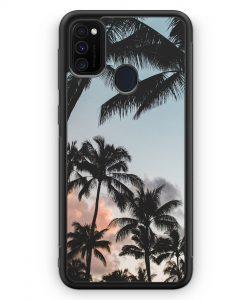 Samsung Galaxy M30s Silikon Hülle - Palmen Landschaft Tropical