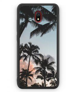 Xiaomi Redmi 8A Silikon Hülle - Palmen Landschaft Tropical