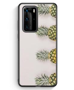 Huawei P40 Pro Silikon Hülle - Ananas Foto Tropical