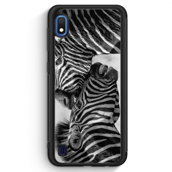 Samsung Galaxy A10 Silikon Hülle - Zebra Foto
